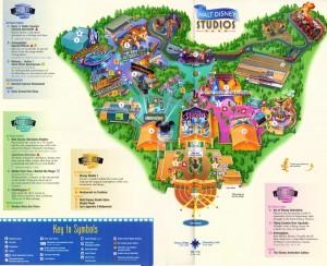 Mapa de Disney Studios Paris