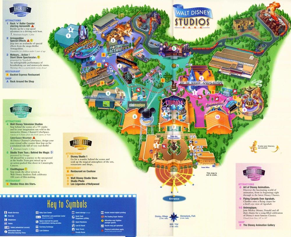 Mapa de disney studios pulsa para liar