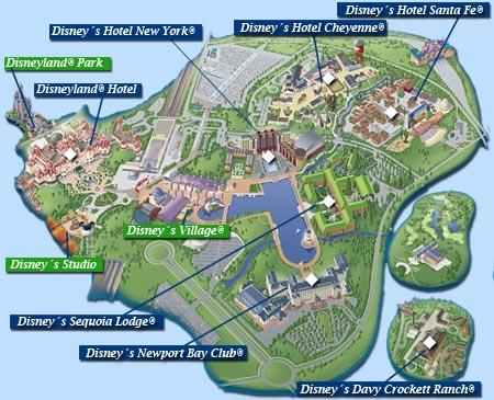 Hoteles en Disneyland París